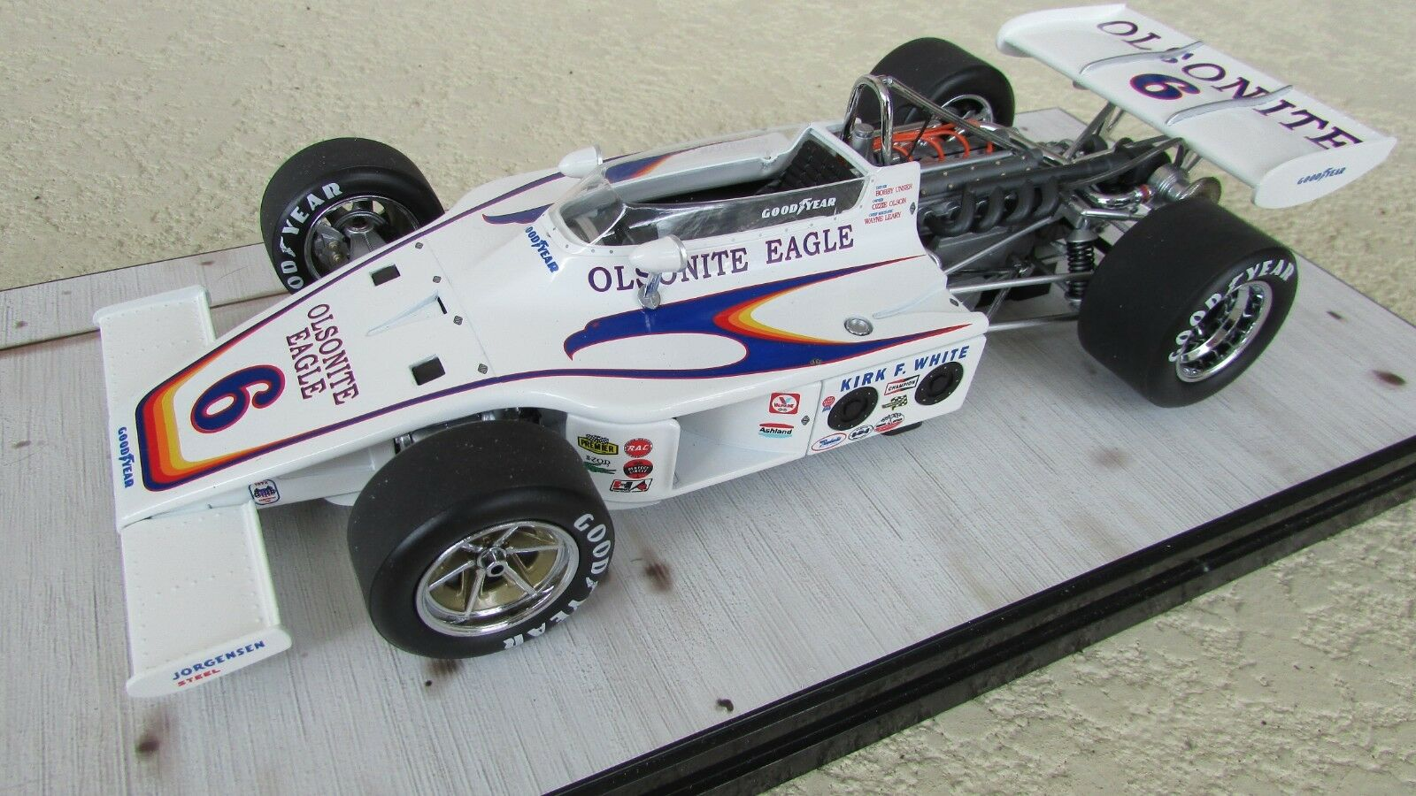 Carousel 1 Indianápolis Indy 500 Poste Coche de Carreras Aar Ágila Offy Bobby
