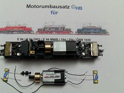 MOTORUMBAUSATZ E94 / 254/ 194 /ÖBB ZEUKE/BTTB/TILLIG MIT LED WARMWEIS