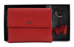 Prudent Braun Büffel Flap Wallet M & Keyfob Set Red Nous Avons Gagné Les éLoges Des Clients