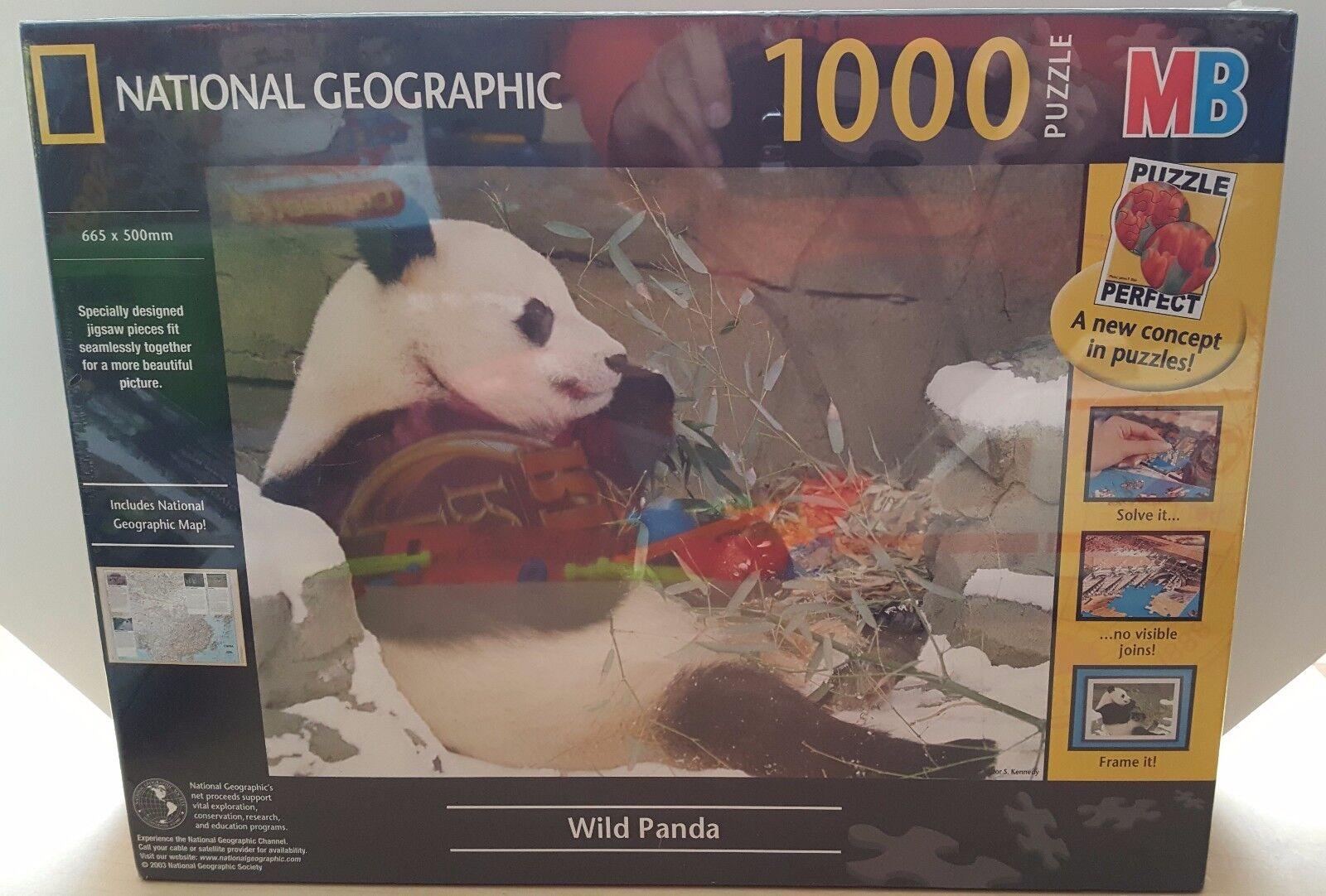 NATIONAL Geographic Wild PANDA Puzzle 1000 pezzi include carta SIGILLATO