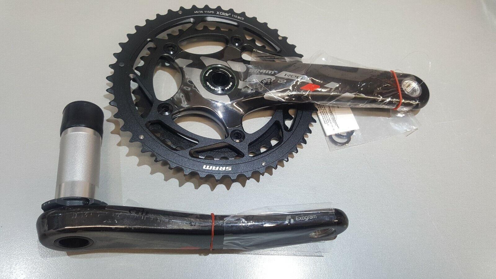 Sram rot 22 Carbon Chainset 46 36 Cyclocross NEU 175