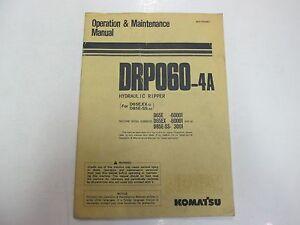 Komatsu-DRP060-4A-Hydraulic-Ripper-Operation-amp-Maintenance-Manual-STAINED-WORN