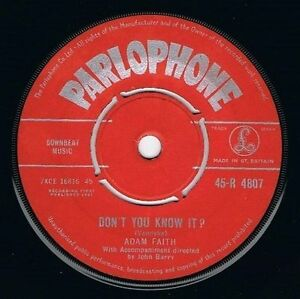 ADAM-FAITH-Don-039-t-You-Know-It-Vinyl-Record-7-Inch-Parlophone-R-4807-1961
