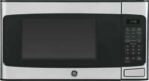 Open-Box-Excellent-GE-1-1-Cu-Ft-Mid-Size-Microwave-Stainless-steel