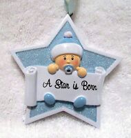 Baby Ornament Nursery Or Shower Party Decoration Boy A Star Is Born