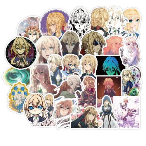 Violet Evergarden Sticker Bomb Random Anime Skin Sticker Pack Vinyl Decals 50Pcs