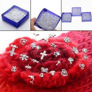 24 Paar Ohrstecker Modeschmuck Silber Pl. Ohring Box Style