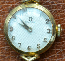 Vintage  Omega 18K Gold Lady Watch 14k Gold Band Working Condition Great Gift