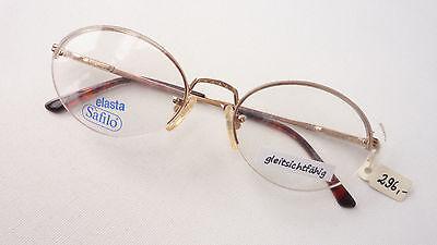 Brille Brillenfassung Nur Oberrahmen Gestell Metall Gold Oval Marke Safilo Sizem