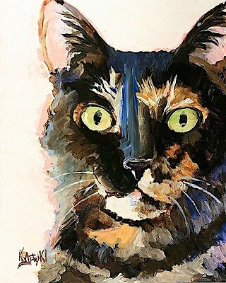 Siamese Cat 11x14 signed art PRINT from painting RJK