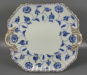 Image is loading SPODE-COLONEL-BLUE-Y6235-CAKE-PLATE-27CM-X- & SPODE COLONEL (BLUE) Y6235 CAKE PLATE 27CM X 24.5CM (PERFECT)   eBay