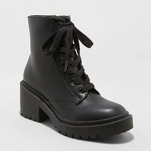 Women's Brie Lace-Up Combat Boots - Universal Thread Black 10