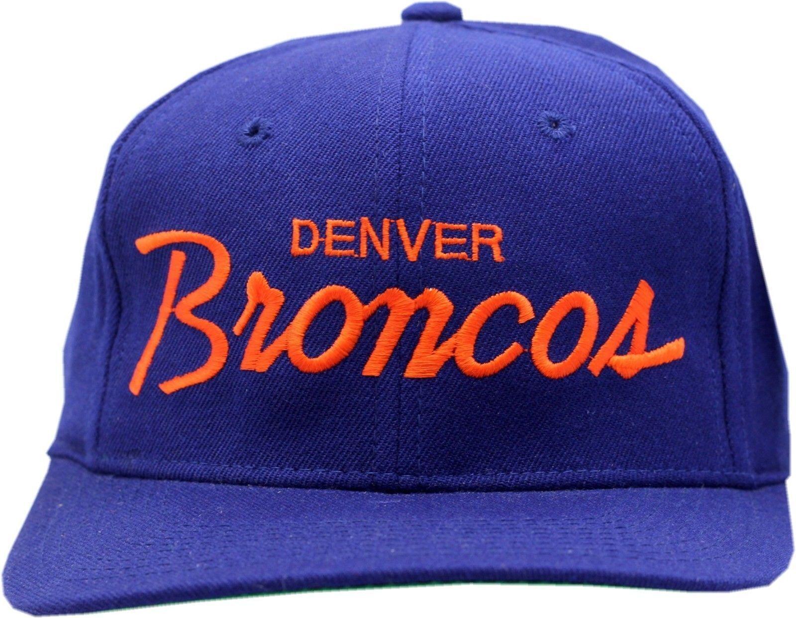 official photos 2dfb3 8948b Vintage Denver Broncos Script Wool Snapback-DB1446