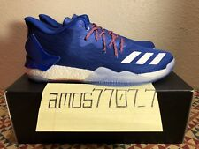 watch ead4d 1b829 Adidas D Rose 7 Low Derrick Rose Blue Orange Boost Basketball Shoes Men 12.5