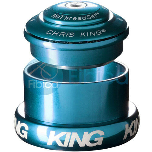 NEW CHRIS KING INSET 3 Threadless Headset Tapered 1 1 8 -1.5 44-49mm Turquoise
