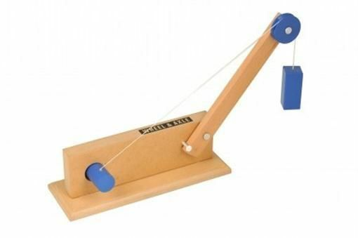 Simple Wheel and Axle Crane Model Demonstrates Physics and Science Principles