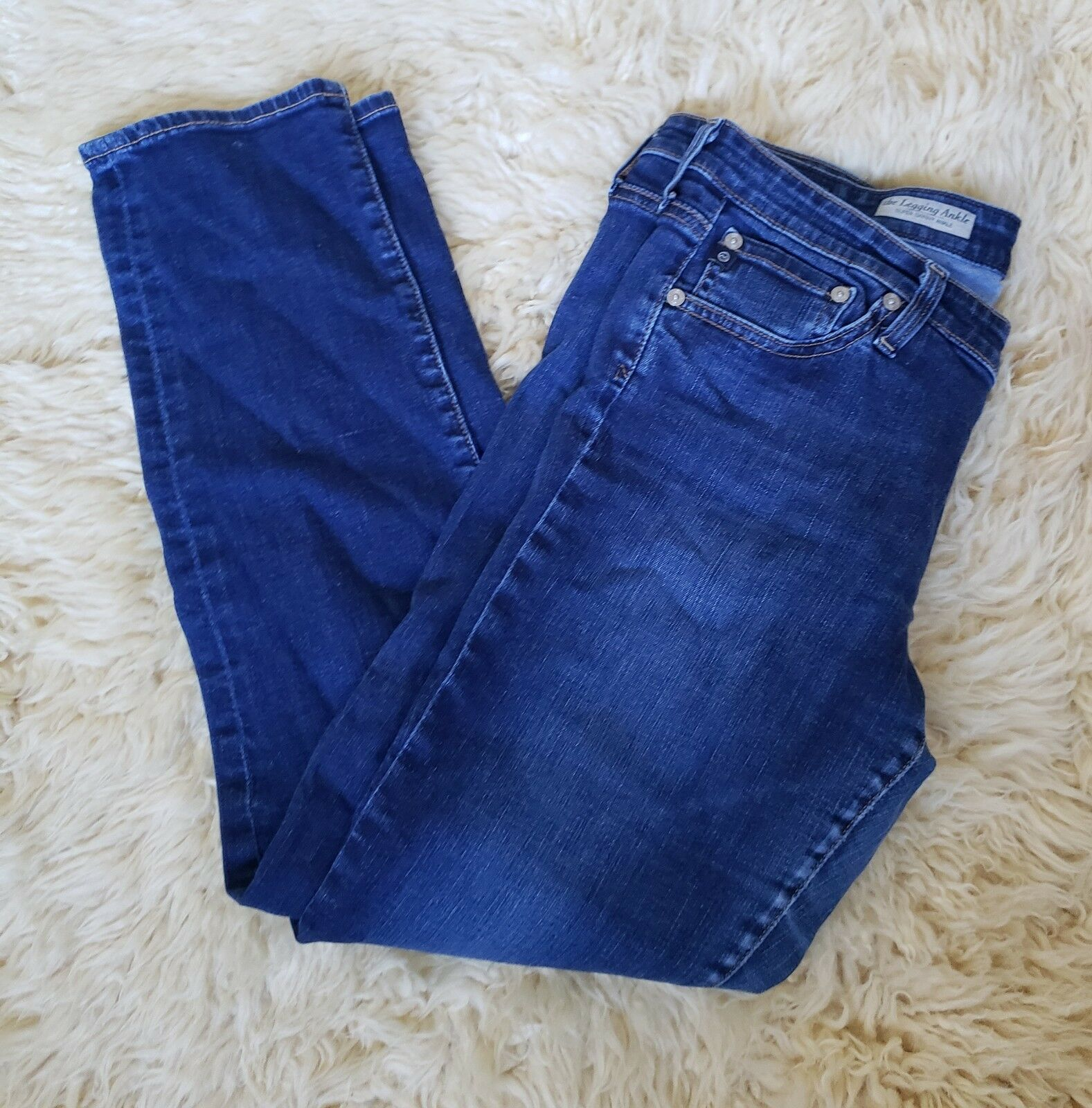 AG Adriano goldschmied Size 31 The Legging Ankle Super Skinny Jeans Denim USA