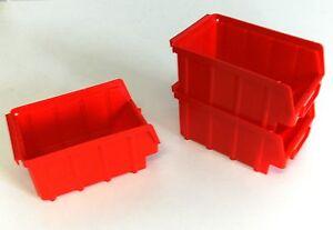 80-Stueck-Stapelboxen-Gr-2-167x102x76mm-rot-PP-NEUWARE