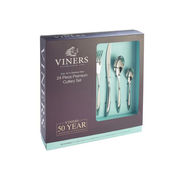 Viners Style 24 Piece 18/10 Stainless Steel Cutlery Set - 50 Year Guarantee