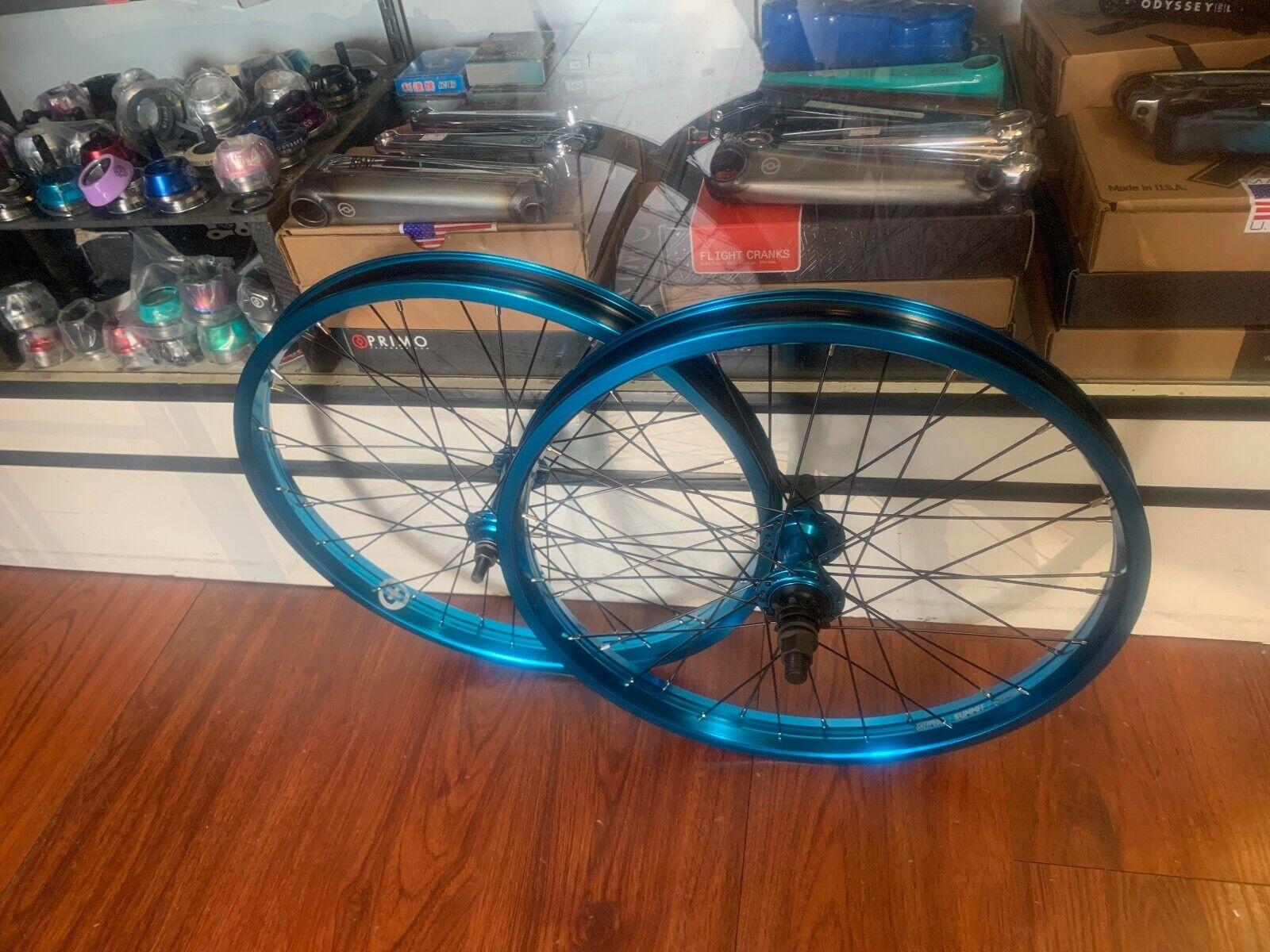 SALT PLUS EVEREST 9 CASSETTE  COMPLETE WHEEL SET blueE 20  WHEELS BMX BIKE SUMMIT  exclusive