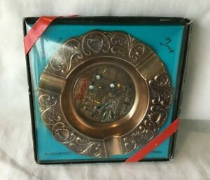 *Vintage Souvenir Metal Ashtray in Box HAWAII THE ALOHA STATE in box