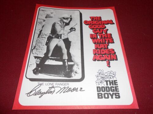BROCHURE SHEET ? 1968 DODGE BOYS LONE RANGER CLAYTON MOORE 9 x 12 POSTER