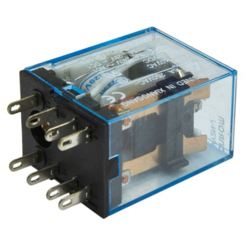 Lot of 5 120V A//C Coil 5A Cube Relay with Socket Base PYF08A Omron MY2N-J
