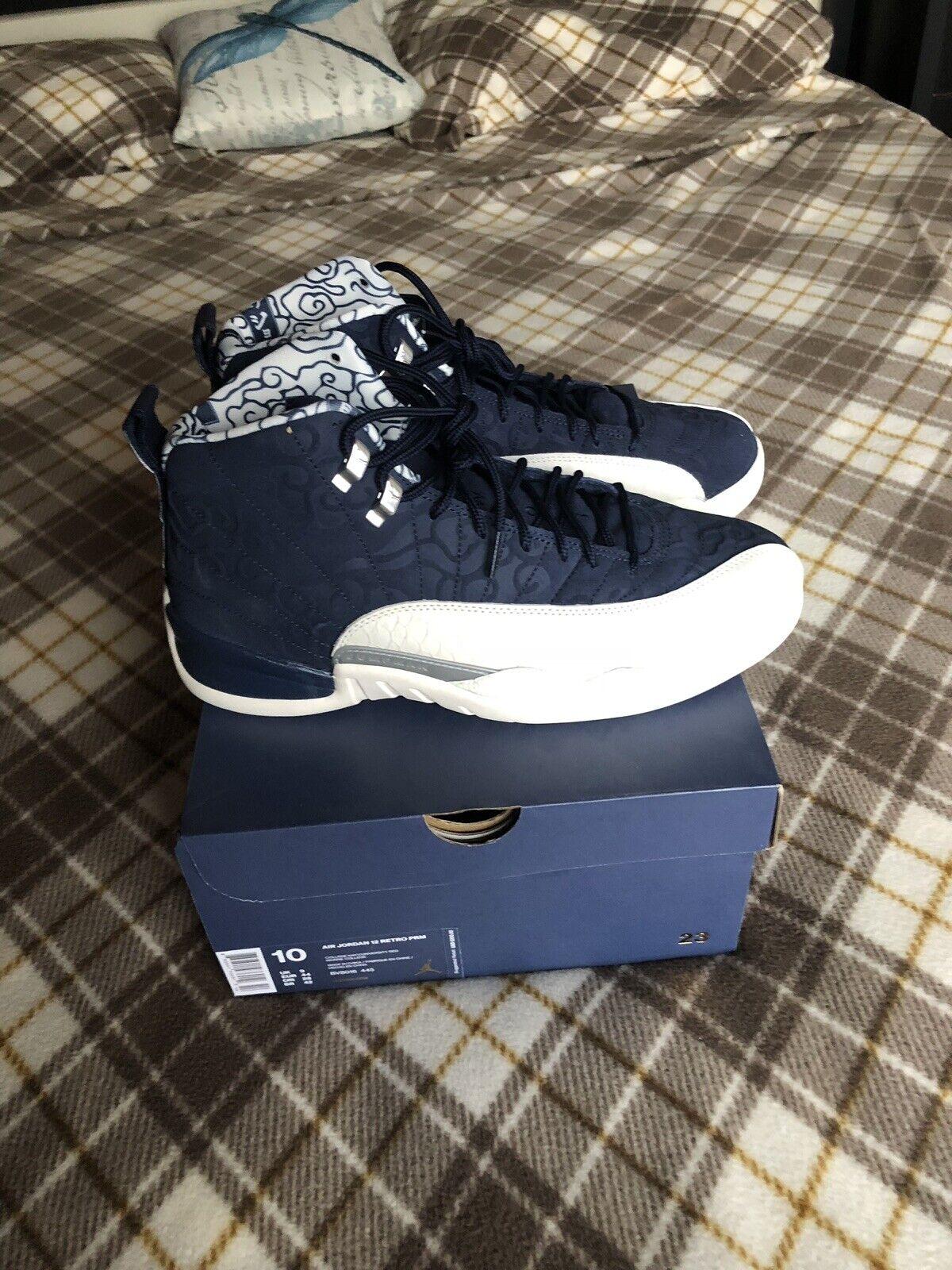 Air Jordan Retro 12 Mens Size 10 International Flight Navy  Authentic shoes