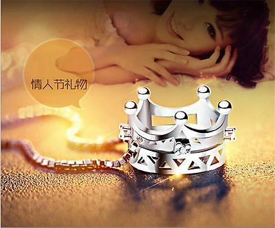 Wholesale 925 silver Imperial crown necklace pendant holiday Gift