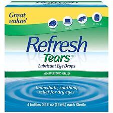 Refresh Tears Lubricant Eye Drops Multi-Pack 4 Plus1 Bonus, Moisture Dry Eyes