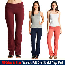 Athletic Fold Over Stretch Gym Lounge Yoga Pant [S~3XL] Active USA