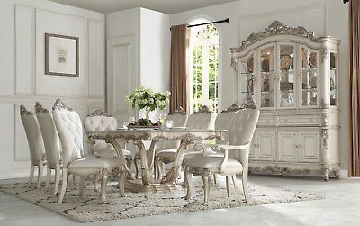 Terrific New Marseille Formal Elegance Carved Antique White Finish Wood Dining Table Set Ebay Beatyapartments Chair Design Images Beatyapartmentscom