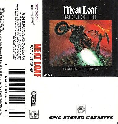 Meat Loaf - Bat Out Of Hell (Cassette, Cleveland International Records)  REISSUE 74643497442 | eBay