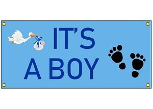 It S A Boy Congratulations Banner Welcome Home Sign 36 By 15 Birth Baby Shower Ebay