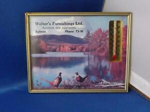 ADVERTISING-THERMOMETER-WELTERS-FURNISHINGS-AYLMER-ONTARIO-PHONE-75-W-BIRDS-LAKE