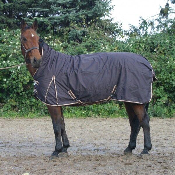 Highneck lluvia manta invierno manta manta de caballo outdoordecke 200g Coffee 125-155cm