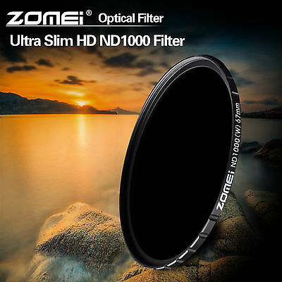 ZOMEI Pro 77mm 10stop HD Ultra Slim ND1000 Optical Glass Neutral Density Filter