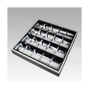 XL-Buero-Deckenleuchte-034-AUFBAU-034-max-4x8-Watt-Bueroleuchte-B-Ware-reduziert