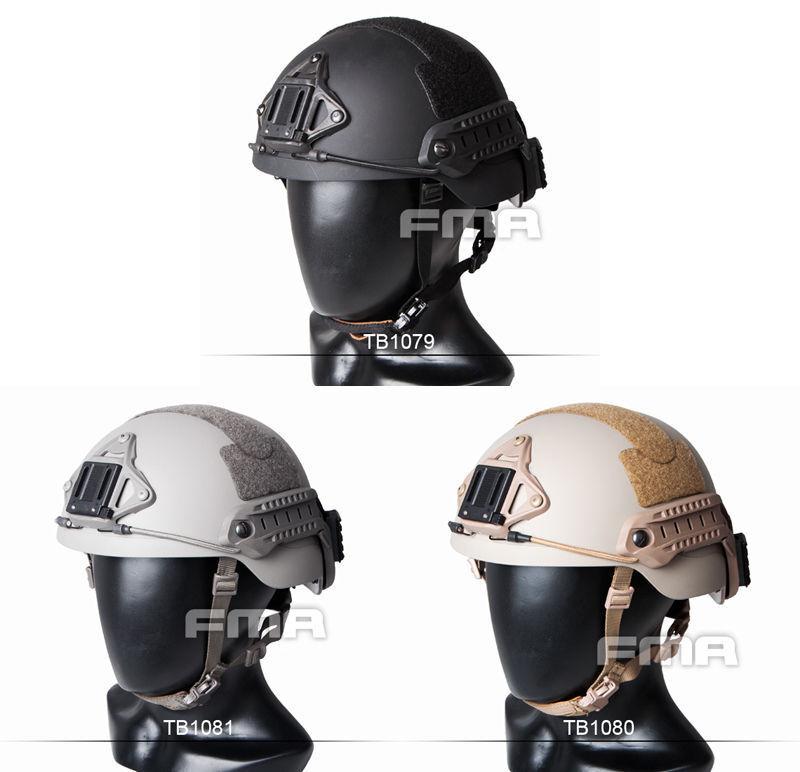2017 FMA Outdoor Paintball Airsoft CS Predective Sentry Helmet (XP) BK DE FG
