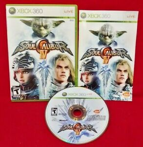 Soul-Calibur-IV-Microsoft-Xbox-360-Rare-Game-Complete-Tested-Works-1-2-Players