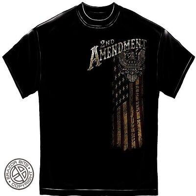NEW XLARGE BIKER 2nd AMENDMENT EAGLE BLACK SHORT SLEEVE TEE SHIRT T#284 people