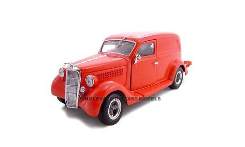 1935 FORD SEDAN DELIVERY rot 1 24 DIECAST MODEL CAR BY UNIQUE REPLICAS 18526