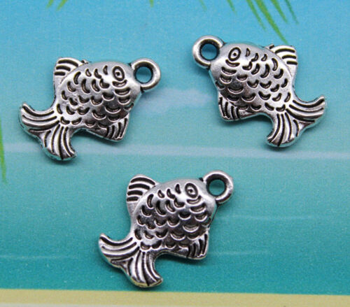 20//60//100pcs retro style Lovely fish alloy charm pendants 16x11mm