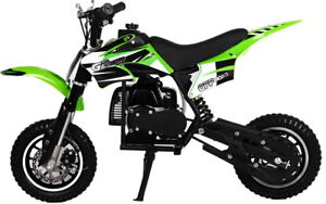 KIDS-49cc-50cc-2-Stroke-GAS-Motor-Mini-Pocket-Dirt-Bike-Free-S-H-GREEN-M-DAKAR