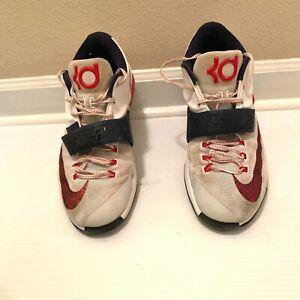 78bd4b9d1254 Nike Zoom KD VII 7 USA Olympic White Obsidian University Red Size 12 ...