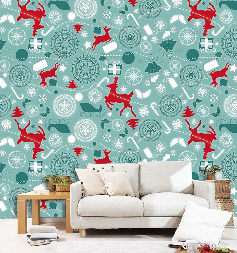 3D Weihnachten redwild 43 Fototapeten Wandbild BildTapete Familie DE