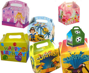 Children-039-s-Party-Food-Lunch-Boxes-Princess-Unisex-Pirate-Football-etc