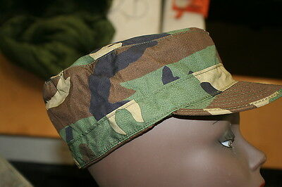 BDU WOODLAND CAMOFLAGE PATROLS CAP RARE FIND BRAND NEW MOST SIZES EAR FLAPS