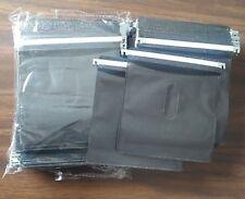 200 Pk Black CD DVD Plastic Sleeve w hanger for Aluminum DVD Storage case refill