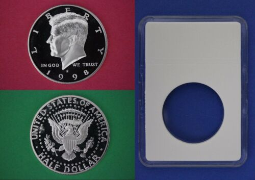1998 S Proof John Kennedy Half Dollar With DIY Slab DCam Clad Combined Shipping
